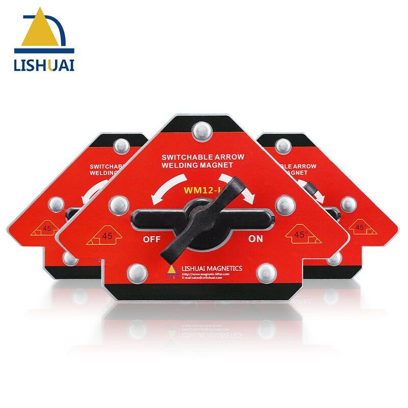 LISHUAI New On/Off Arrow Welding Magnet Holder/45/90/135 Strong Magnetic Welding Clamp WM12